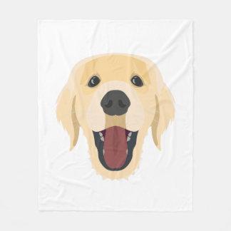 De honden van de illustratie zien Gouden Retriver Fleece Deken