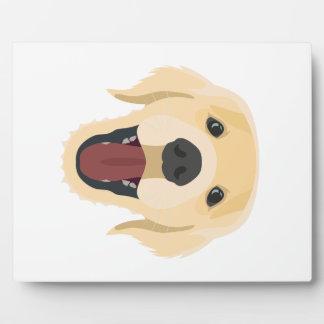 De honden van de illustratie zien Gouden Retriver Fotoplaat