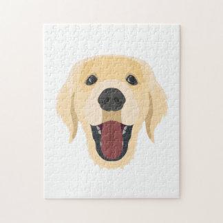 De honden van de illustratie zien Gouden Retriver Legpuzzel