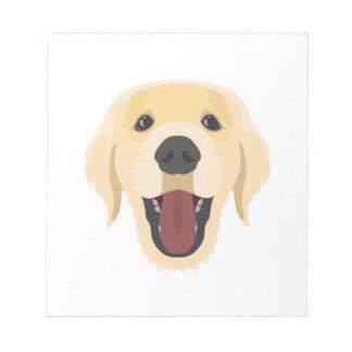 De honden van de illustratie zien Gouden Retriver Notitieblok