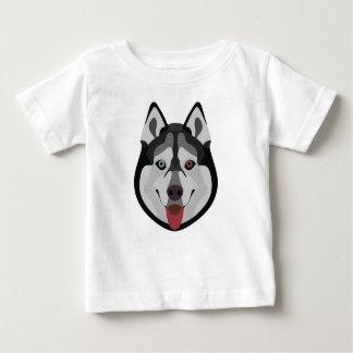 De honden van de illustratie zien Siberische Schor Baby T Shirts