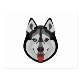 De honden van de illustratie zien Siberische Schor Briefkaart