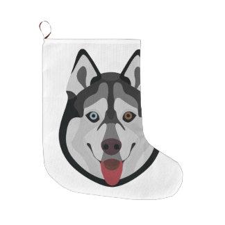 De honden van de illustratie zien Siberische Schor Grote Kerstsok