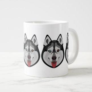 De honden van de illustratie zien Siberische Schor Grote Koffiekop