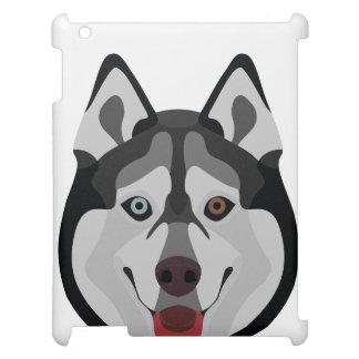 De honden van de illustratie zien Siberische Schor iPad Hoesje