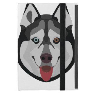 De honden van de illustratie zien Siberische Schor iPad Mini Hoesje