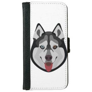 De honden van de illustratie zien Siberische Schor iPhone 5 Portefeuille Hoesje