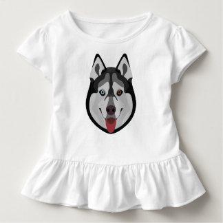 De honden van de illustratie zien Siberische Schor Kinder Shirts