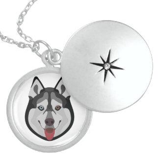 De honden van de illustratie zien Siberische Schor Locket Ketting