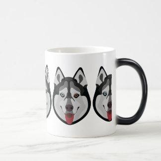 De honden van de illustratie zien Siberische Schor Magische Mok