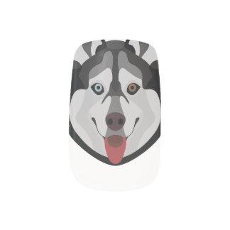 De honden van de illustratie zien Siberische Schor Minx Nail Folie