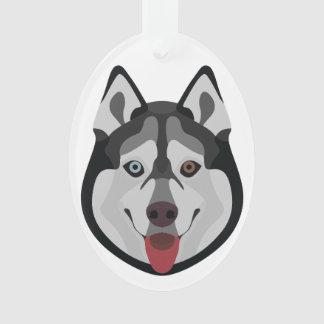 De honden van de illustratie zien Siberische Schor Ornament