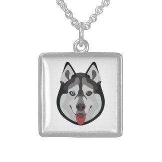 De honden van de illustratie zien Siberische Schor Sterling Zilver Ketting