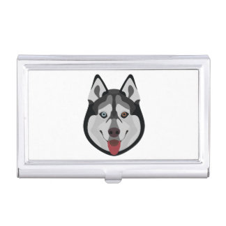 De honden van de illustratie zien Siberische Schor Visitekaarthouder