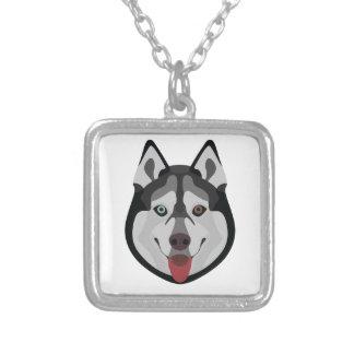 De honden van de illustratie zien Siberische Schor Zilver Vergulden Ketting
