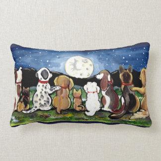De Honden van de maan bij het Originele Art. van Lumbar Kussen