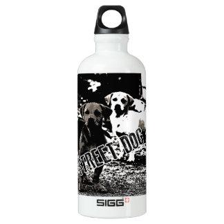 De honden van de straat aluminium waterfles