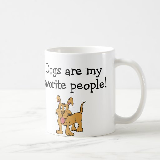 De honden zijn Mijn Favoriete Mok van Mensen