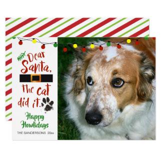 """De hondenliefhebbers, """"Beste Kerstman, de Kat Kaart"""