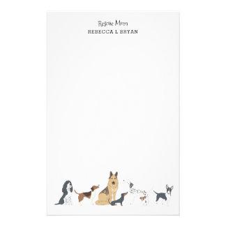 De Hondenrassen van de Papa van het Mamma van de Briefpapier