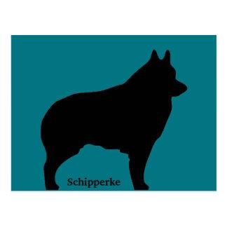 De hondsilhouet van Schipperke Briefkaart