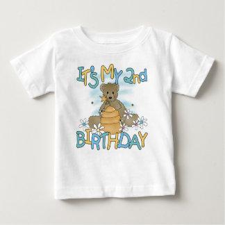 De honing draagt 2de Verjaardag Baby T Shirts