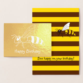 De honingbij Omgekeerde Kaart van de Verjaardag