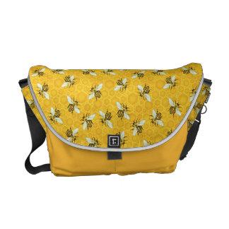 De Honingraat van honingbijen stuntelt het Patroon Messenger Bags