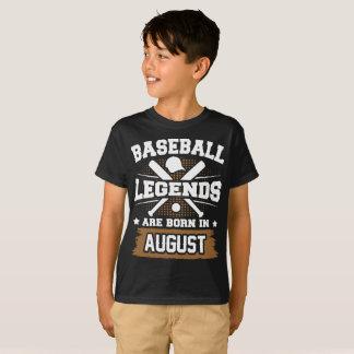 de honkbal legenden zijn geboren in augustus t shirt