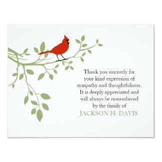 De hoofd Begrafenis dankt u nota neemt van de Rode Kaart