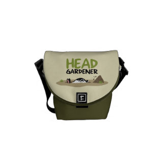 De hoofd Illustratie van de Tuinman Messenger Bags