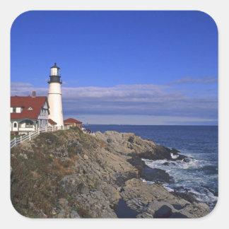 De Hoofd Lichte Vuurtoren Maine van Portland Vierkante Sticker