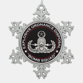 De hoofd Ploeg van de Bom EOD Tin Sneeuwvlok Ornament
