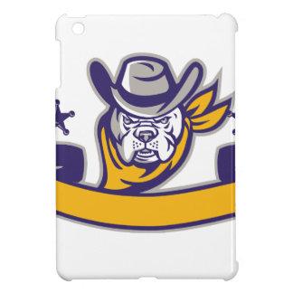 De Hoofd Retro Banner van de Cowboy van de Sheriff iPad Mini Covers