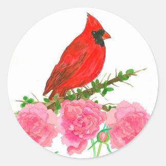 De hoofd Roze Bloemen van de Waterverf van de Ronde Sticker