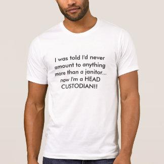 De HOOFD T-shirt van de BEHEERDER