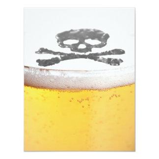 De HoofdBellen van het bier 10,8x13,9 Uitnodiging Kaart