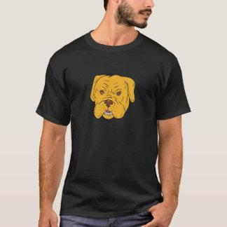 De HoofdCartoon van de Hond van Bordeaux T Shirt