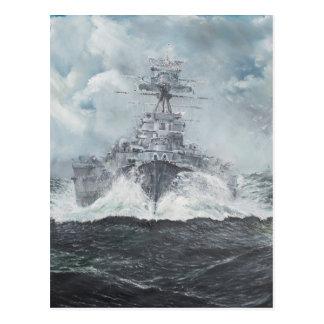 De hoofden van de kap voor Bismarck 23rdMay 1941. Briefkaart