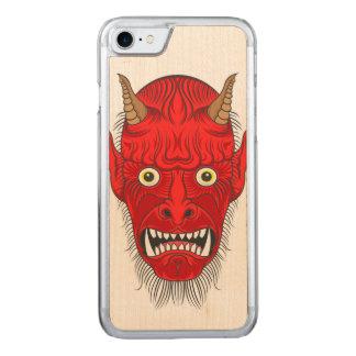 De HoofdIllustratie van de duivel Carved iPhone 8/7 Hoesje
