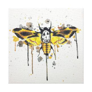 De HoofdMot van sterfgevallen splatterwork Canvas Print
