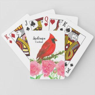 De HoofdPioenen Indiana van de waterverf Pokerkaarten