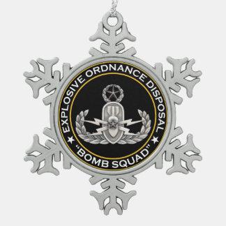 De HoofdPloeg van de Bom EOD Tin Sneeuwvlok Ornament