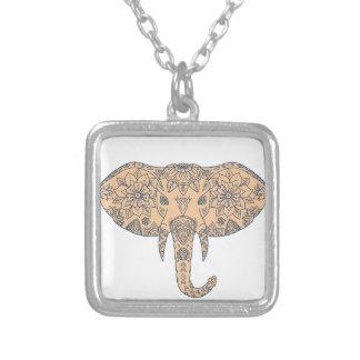 De HoofdSlagtand Mandalaa van de olifant Zilver Vergulden Ketting