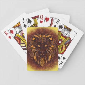 De HoofdSpeelkaarten van de leeuw, de Pokerkaarten