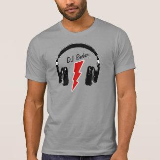 De hoofdtelefoonbout van DJ met naam T Shirt