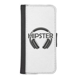 De Hoofdtelefoons Hipster van de muziek iPhone 5 Portemonnee Hoesje