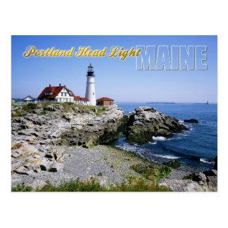 De HoofdVuurtoren van Portland, Kaap Elizabeth, Briefkaart