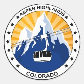 De Hooglanden Colorado van de esp Ronde Sticker