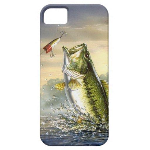 De hoogste Largemouth Actie van het Water - iPhone 5 Case-Mate Hoesje